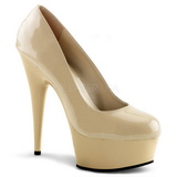 Beige Lack 15 cm Pleaser DELIGHT-685 H�ga Plat�pumps