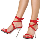 Red Satin 11,5 cm CHIC-14 Stiletto High Heels Shoes