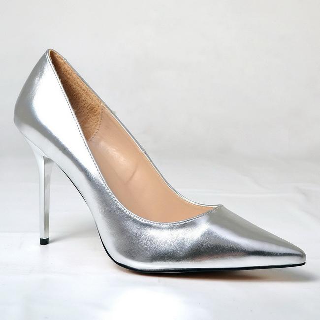 CLASSIQUE-20 silver damskor med stilettklackar storlek 39 - 40