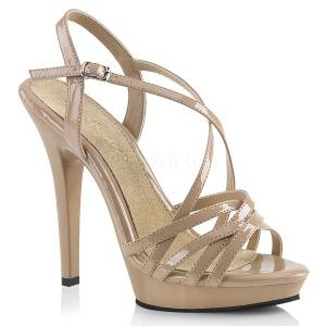 Beige 13 cm Fabulicious LIP-113 högklackade sandaletter