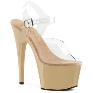 Pink 18 cm ADORE 708 Chrome Platform High Heels