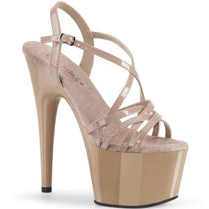 Beige 18 cm ADORE-713 pleaser stiletto heel sandals
