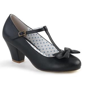 Black 6,5 cm retro vintage WIGGLE-50 Pinup Pumps Shoes with Cuben Heels