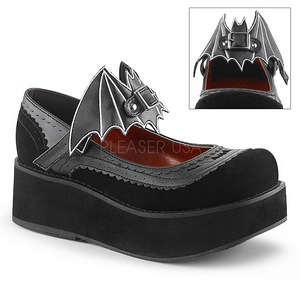 Black 6 cm DEMONIA SPRITE-09 gothic platform shoes