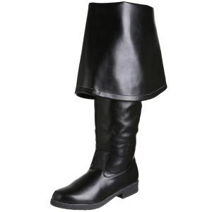 Black Leatherette 4 cm MAVERICK-2045 Thigh High Boots for Men