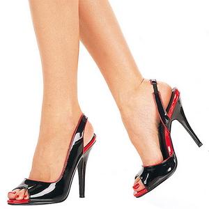 Black Varnish 13 cm SEDUCE-117 Womens High Heels Sandals