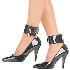 Black Varnished 10,5 cm VANITY-434 Pumps with low heels