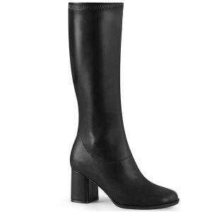 Black Vegan 7,5 cm GOGO-300-2 boots with block heels