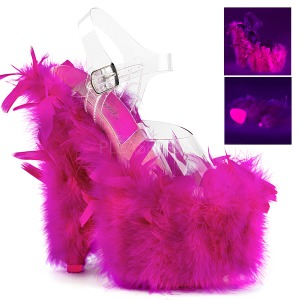 Fuchsia Marabou Feathers 18 cm ADORE-708F Pole dancing high heels