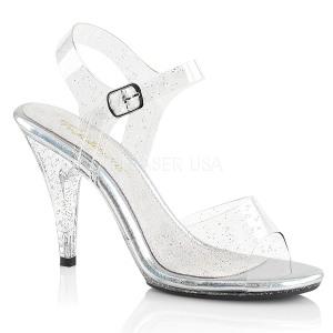 Glittrig 10 cm Fabulicious CARESS-408MMG högklackade sandaletter