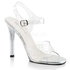 Glittrig 11,5 cm Fabulicious GALA-08MMG högklackade sandaletter