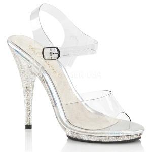 Glittrig 12,5 cm Fabulicious POISE-508MG högklackade sandaletter