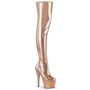 Gold 18 cm ADORE-3000HWR Hologram exotic pole dance overknee boots