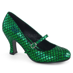 Grön 7,5 cm MERMAID-70 pumps skor med låg klack