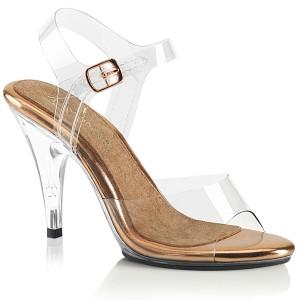 Guld 10 cm CARESS-408 högklackade sandaletter