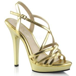 Guld 13 cm Fabulicious LIP-113 högklackade sandaletter