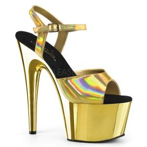 Guld 18 cm ADORE-709HGCH Hologram platå klackar skor