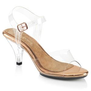 Guld 8 cm BELLE-308 högklackade sandaletter
