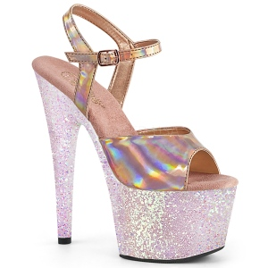 Guld glitter platå 18 cm ADORE-709HGG pleaser höga klackar för kvinnor