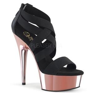 Guld krom platå 15 cm DELIGHT-669 pleaser skor med hög klack