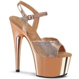 Guld krom platå 18 cm ADORE-709 pleaser höga klackar för kvinnor