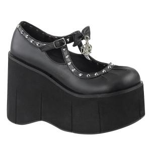 Konstläder 11,5 cm KERA-14 lolita skor goth platåskor