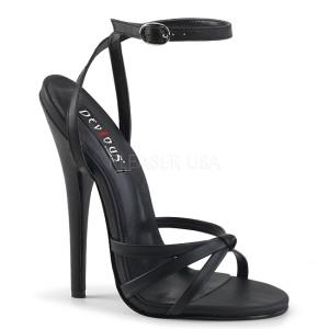 Konstläder 15 cm DOMINA-108 fetish sandaler med stilettklack