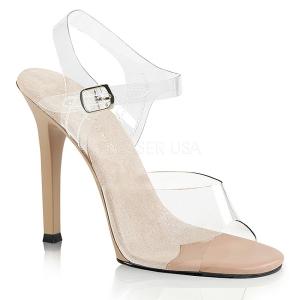 Kräm 11,5 cm FABULICIOUS GALA-08 Höga fest sandaler med klack