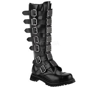 Läder REAPER-30 Punk Stövlar för Män Goth Stövlar