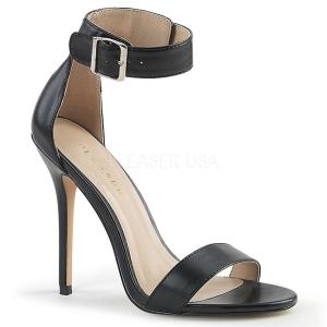 Leatherette 13 cm Pleaser AMUSE-10 high heeled sandals