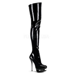 Patent 15,5 cm BLONDIE-3000 Platform Thigh High Boots