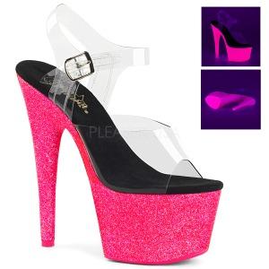 Pink 18 cm ADORE-708UVG Högklackade Sandaler Neon Platå