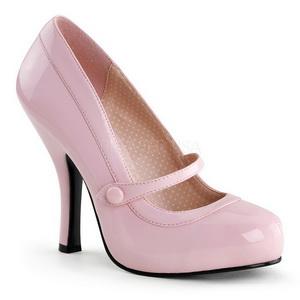 Pink Lackerade 12 cm retro vintage CUTIEPIE-02 mary jane pumps med dold platå