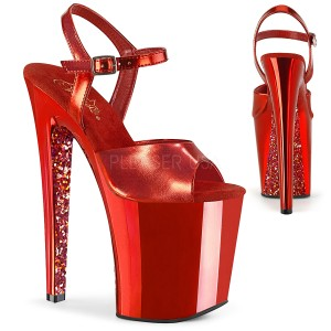 Röd krom platå 20 cm XTREME-809TTG pleaser höga klackar för kvinnor