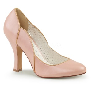 Rosa 10 cm SMITTEN-04 Pinup pumps skor med låg klack