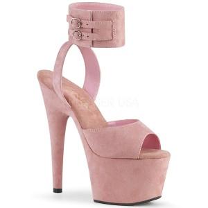 Rosa Konstläder 18 cm ADORE-791FS högklackade skor med ankelband