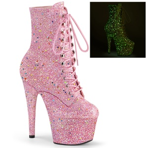 Rosa glitter 18 cm ADORE-1020GDLG pole dance ankleboots