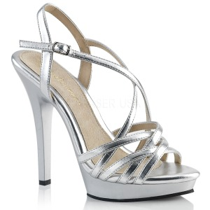 Silver 13 cm Fabulicious LIP-113 högklackade sandaletter