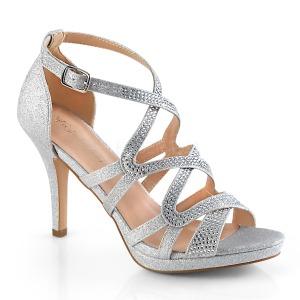 Silver 9,5 cm DAPHNE-42 Sandaletter med stilettklack