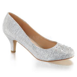 Silver Rhinestone 6,5 cm DORIS-06 High Heeled Evening Pumps Shoes
