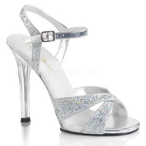 Silver glittrig 11,5 cm Fabulicious GALA-19 högklackade sandaletter