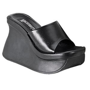 Svart 11,5 cm PACE-01 Platå Goth Flip Flops Dam