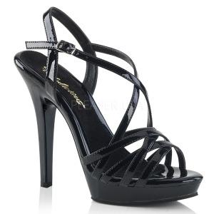 Svart 13 cm Fabulicious LIP-113 högklackade sandaletter