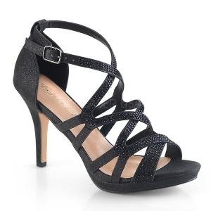 Svart 9,5 cm DAPHNE-42 Sandaletter med stilettklack