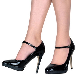 Svart Lackerade 11 cm BLISS-31 Dam Pumps Stilettskor
