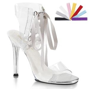 Transparent 11,5 cm GALA-32 högklackade sandaletter