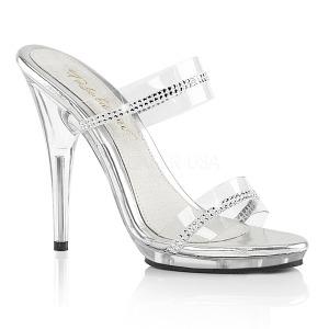 Transparent 13 cm Fabulicious POISE-502R womens mules shoes