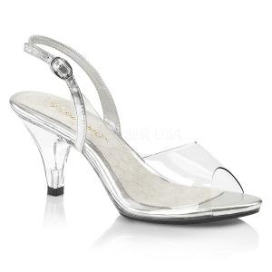 Transparent 8 cm BELLE-350 transvestite shoes