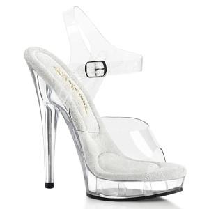 Transparent high heels 15 cm SULTRY-608 platå high heels