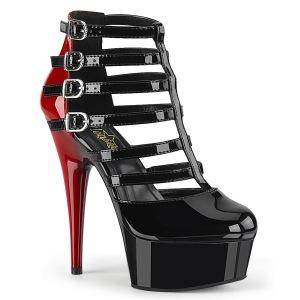 Vegan 15 cm DELIGHT-695 platform ankle booties